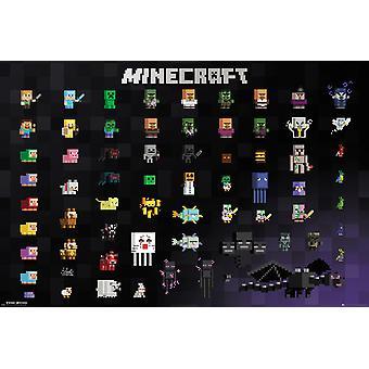 Minecraft Pixel Sprites Maxi Poster 61x91.5cm