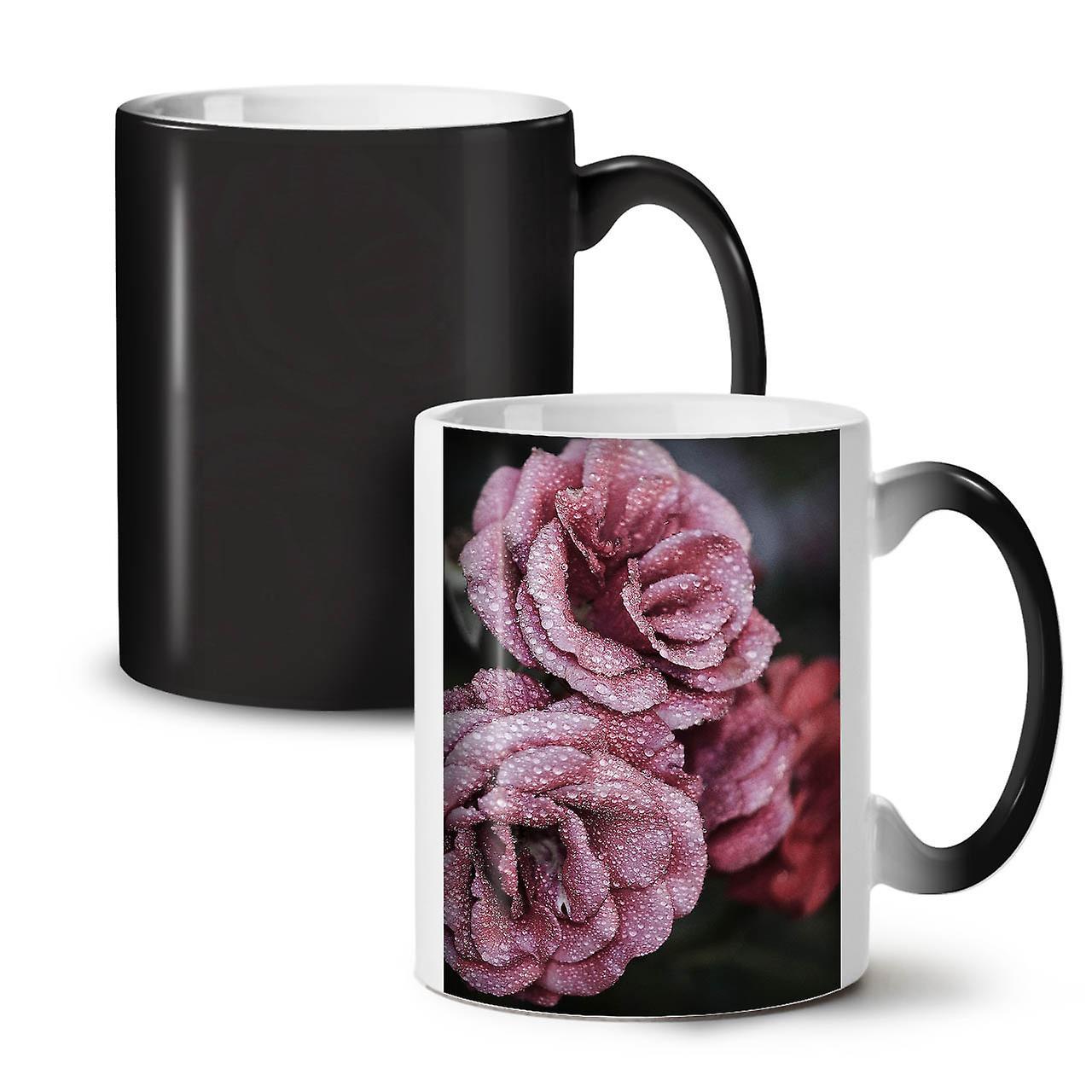 Rose Nature Changeant Céramique Art Nouveau Thé Couleur Belle 11 OzWellcoda Noire Tasse Café nwXZ8O0kNP