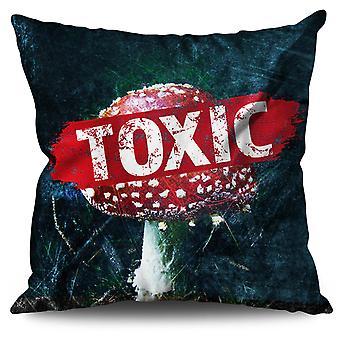 Toxic Mushroom Nature Linen Cushion Toxic Mushroom Nature | Wellcoda