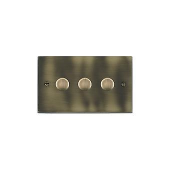 Hamilton Litestat Cheriton Victorian Antique Brass 3g 100W LED Dimmer AB