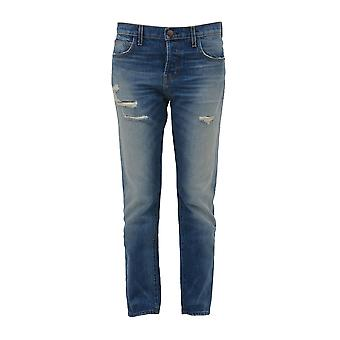 Current Elliott women's 1876ZEPHIRDESTROY blue cotton of jeans