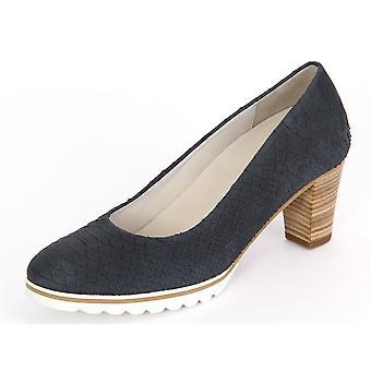 Zapatos de mujer elegante Gabor Ancona Nightblue Kroko 4213036