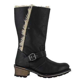 Caterpillar Anna Womens Faux Fur Lined Black Leather High Boots