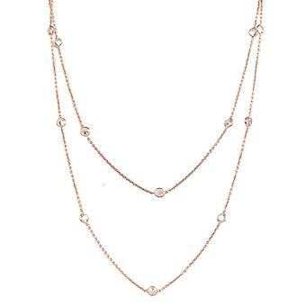 Long  style rose gold necklace