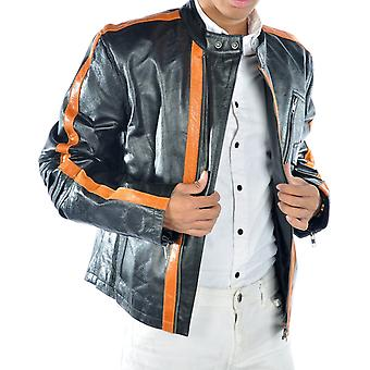 Caleb Mens Leather Jacket