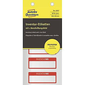 Avery-Zweckform 6907 Labels (hand writable) 50 x 20 mm Polyester