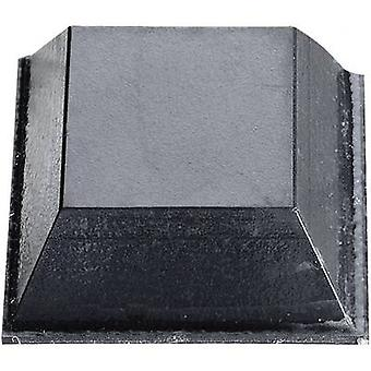 Buffer self-adhesive, square Black (L x W x H) 20.6 x 20.6 x 7.6 mm