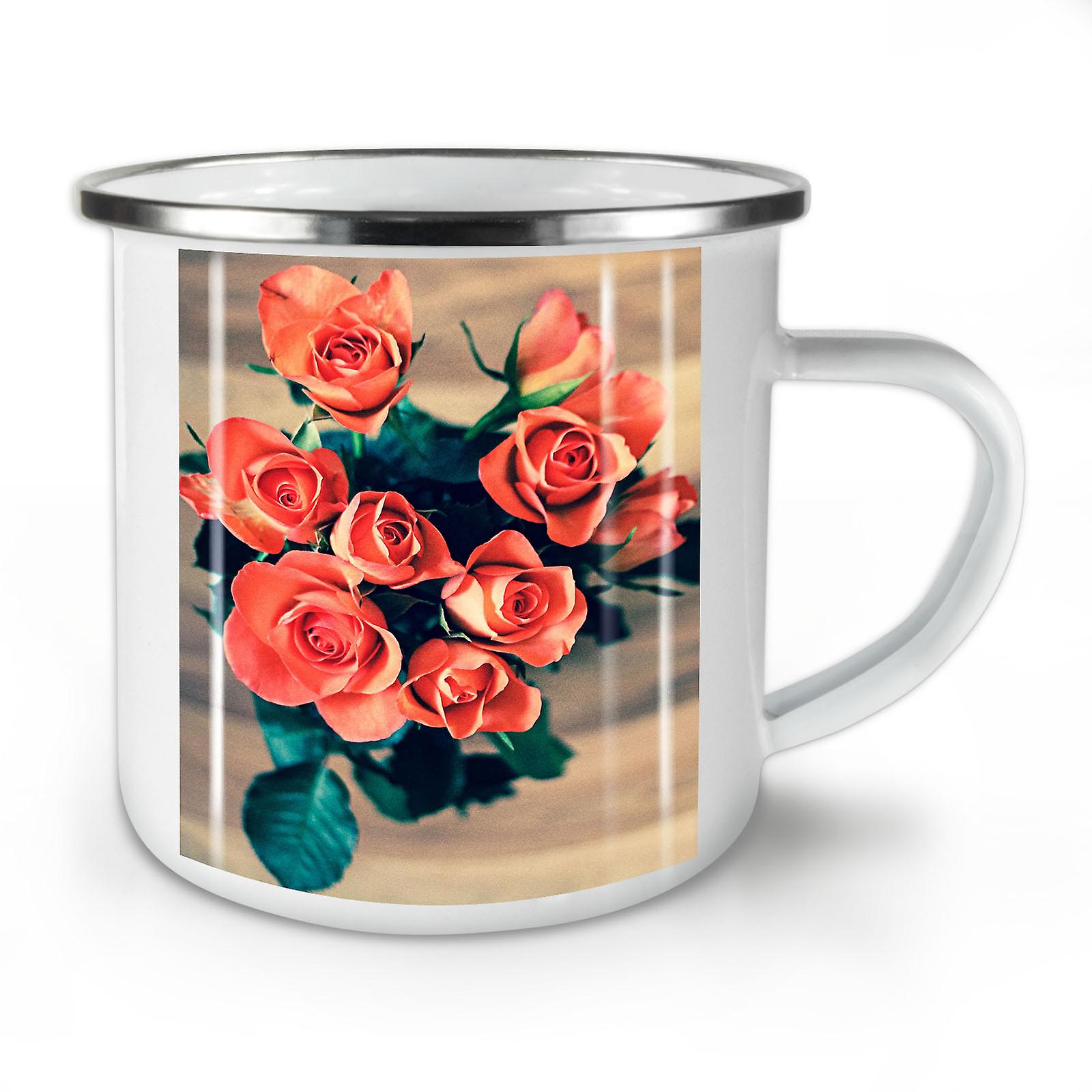 La De Nature OzWellcoda Café Émail Whitetea Mug10 Roses Beauté Nouvelle sxrdQCth