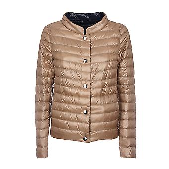 Herno women's PI0622D120178158 Brown nylon Quilted Jacket