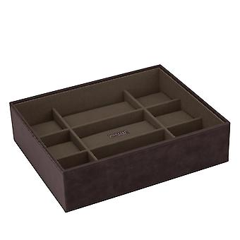 Brown/Khaki Watch Open 15 Piece Watch Tray