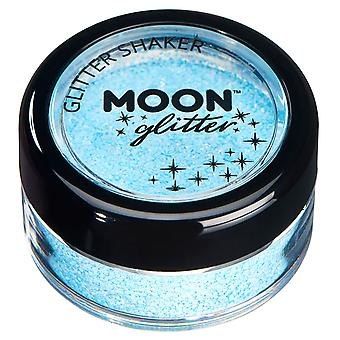 Pastel Glitter Shakers by Moon Glitter – 100% Cosmetic Glitter for Face, Body, Nails, Hair and Lips - 3g - Baby Blue