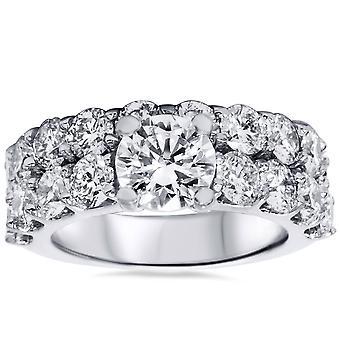 6ct Diamond Engagement Ring Set 14K White Gold