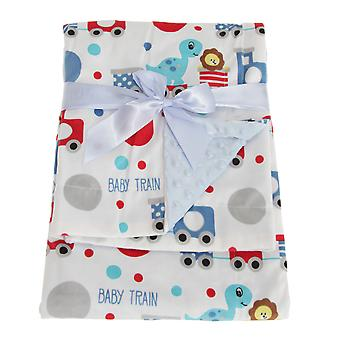 Snuggle Baby Reversible Baby Wrap For Someone Special With Train Design