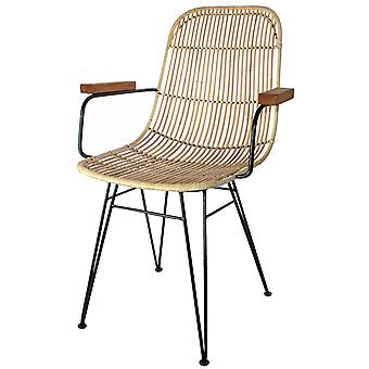Decoración Vintage Natural Ratchet Pitch Chair With Arm