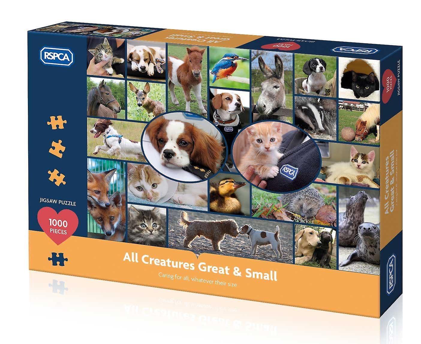 Gibsons RSPCA - All Creatures Great & Small Jigsaw Puzzle (1000 pieces)