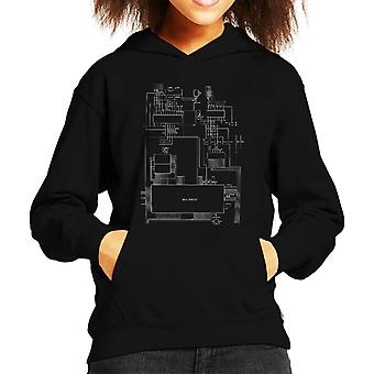 Sega Genesis Computer Schematic Kid's Hooded Sweatshirt