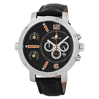 Burgmeister BM349-122 Modesto, Gents watch, Analogue display, Chronograph with Citizen Movement - Water resistant, Stylish leather strap, Classic men's watch