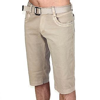 Men Chino Capri Bermuda Shorts Cargo shorts hem jacket with belt
