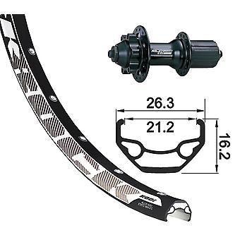 XLC 27, 5″ rear wheel Rodi Black Rock disc + XLC Evo 6-hole 8-10-fold
