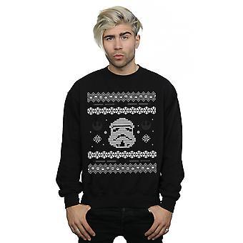 Star Wars Men's Stormtrooper Christmas Fair Isle Sweatshirt
