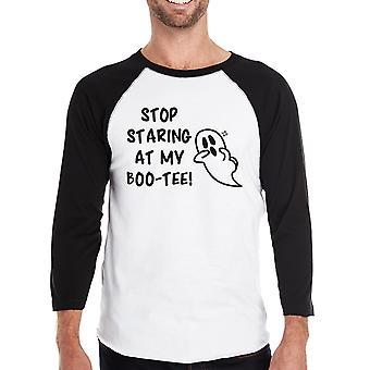 Staring At My Boo Mens Halloween Baseball Tee Couple Shirts Idea