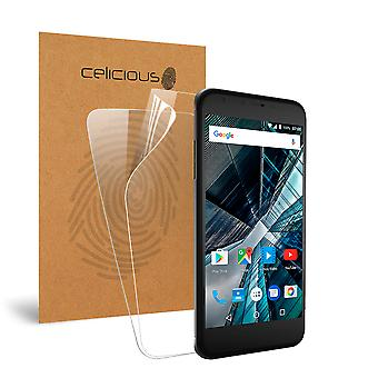 Celicious Vivid Invisible Glossy HD Screen Protector Film Compatible with Archos 55 Graphite [Pack of 2]