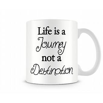 Journey Destination Printed Mug