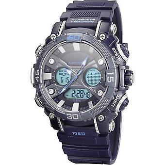 Quartz Outdoor watch YP12598-02 (Ø x H) 52 mm x 18 mm Blue Enclosure material=ABS plastic Material (watch strap)=PU plas