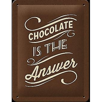 Chocolate Is The Answer Funny Metal Sign (200Mm X 150Mm)