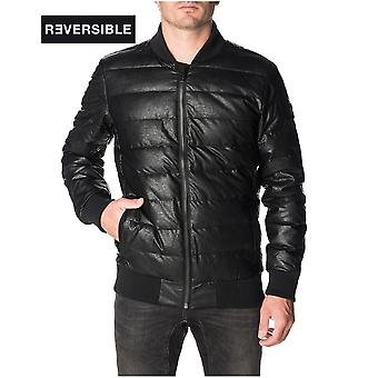 Down jacket Black Reversible BULLIT PULLIN Man
