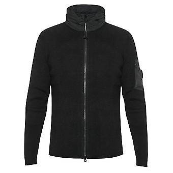 C.P. Company C.P. Company Concealable Hood Lens Black Knit Jacket