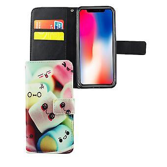Caja del teléfono móvil bolsa de malvaviscos de Letras de teléfono Apple iPhone XS