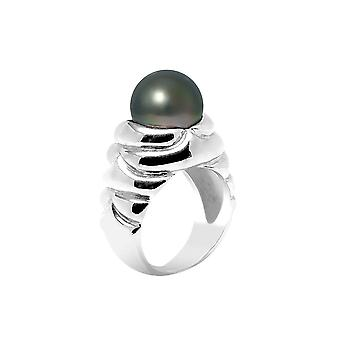 Woman ring 10-11 mm Tahitian Pearl ring and Silver 925/1000