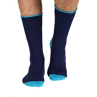 The Purist mens luxury 100% cotton boot sock in navy | By Corgi, Wales