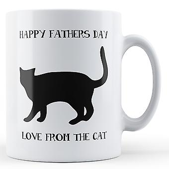Happy Fathers Day Love From The Cat Printed Mug