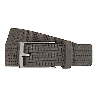 Strellson belts men's belts leather belt grey 7542