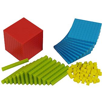 Bigjigs Toys Educational Plastic Base Ten Set (161 Pieces) Home School Learn