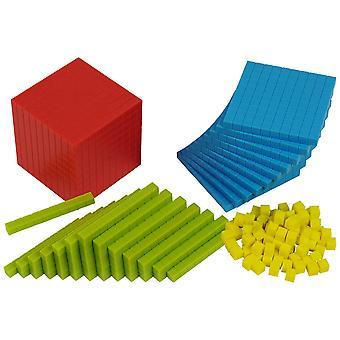 Bigjigs Toys pädagogische Kunststoff Base Ten-Set (161 Stück) Schule zu Hause lernen