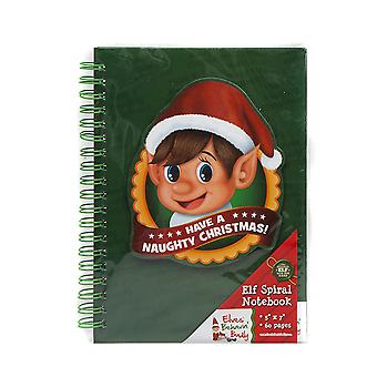 Christmas Shop Elf Spiral Notebook (60 Pages)