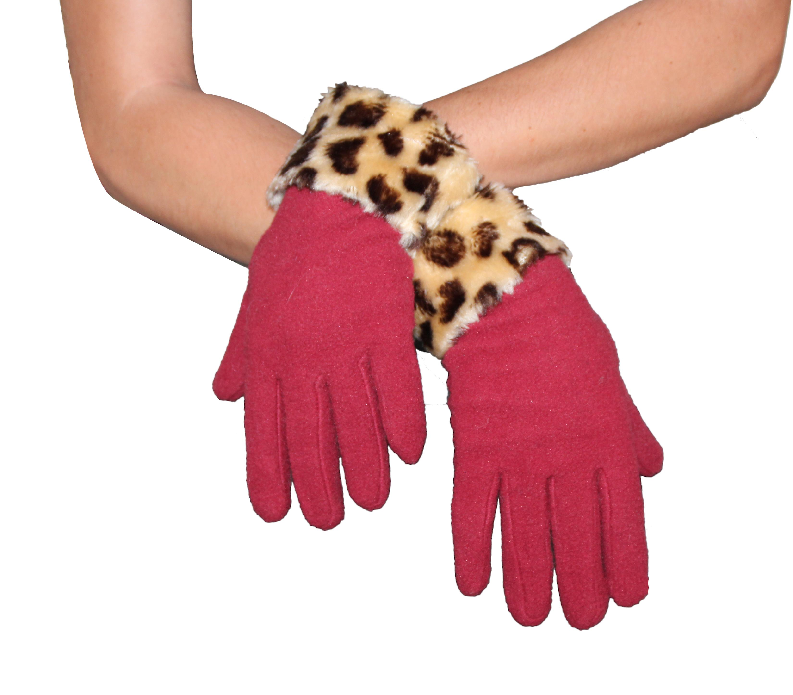 Waooh - Fashion - Gloves with wrist tower leopard