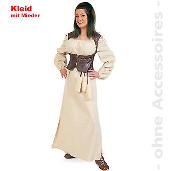 Barbarin Magd Wirtin Kostüm Damen Mittelalter Kleid Damenkostüm