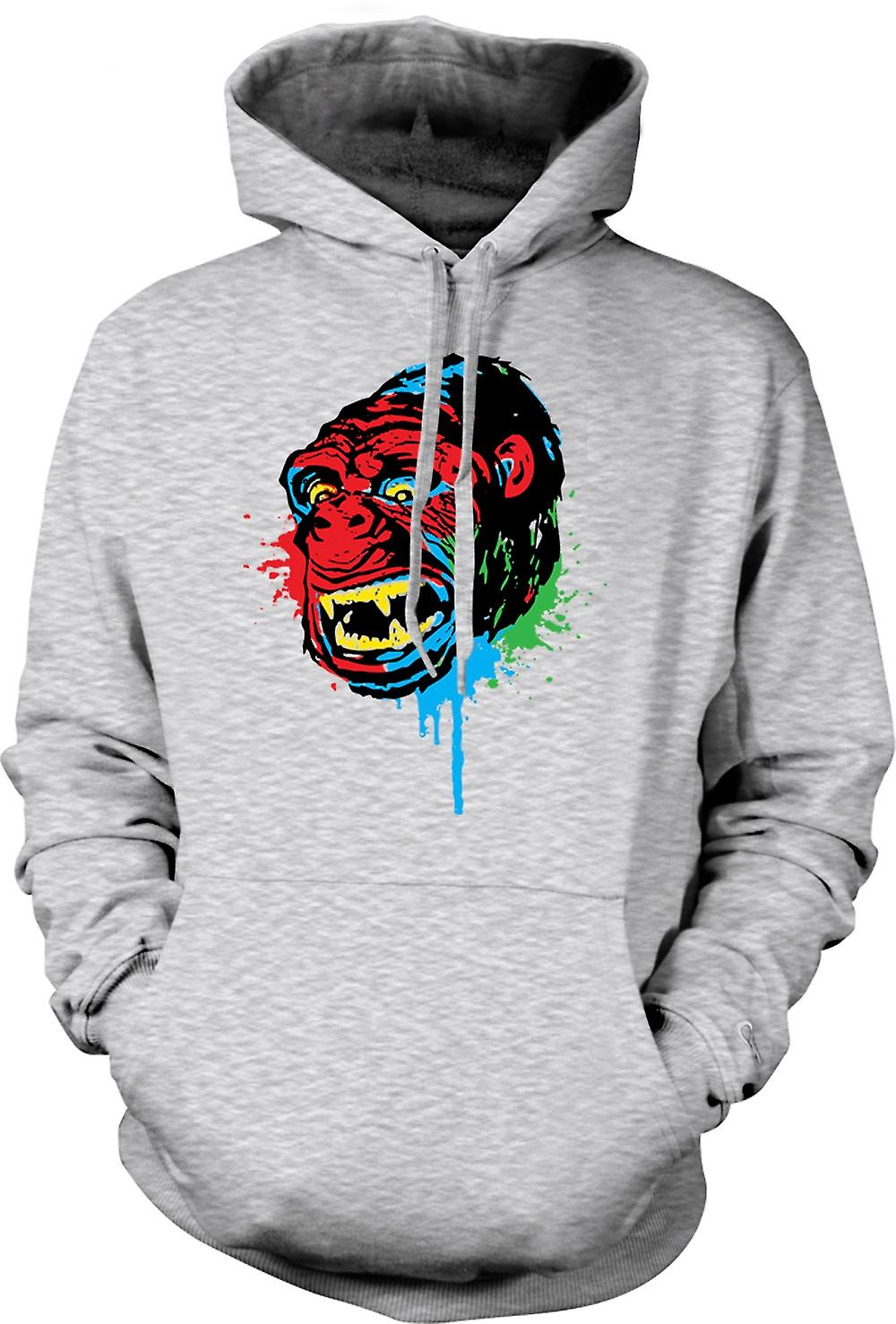 Mens Hoodie - Pop Art - Ape Gorilla - Cool Design