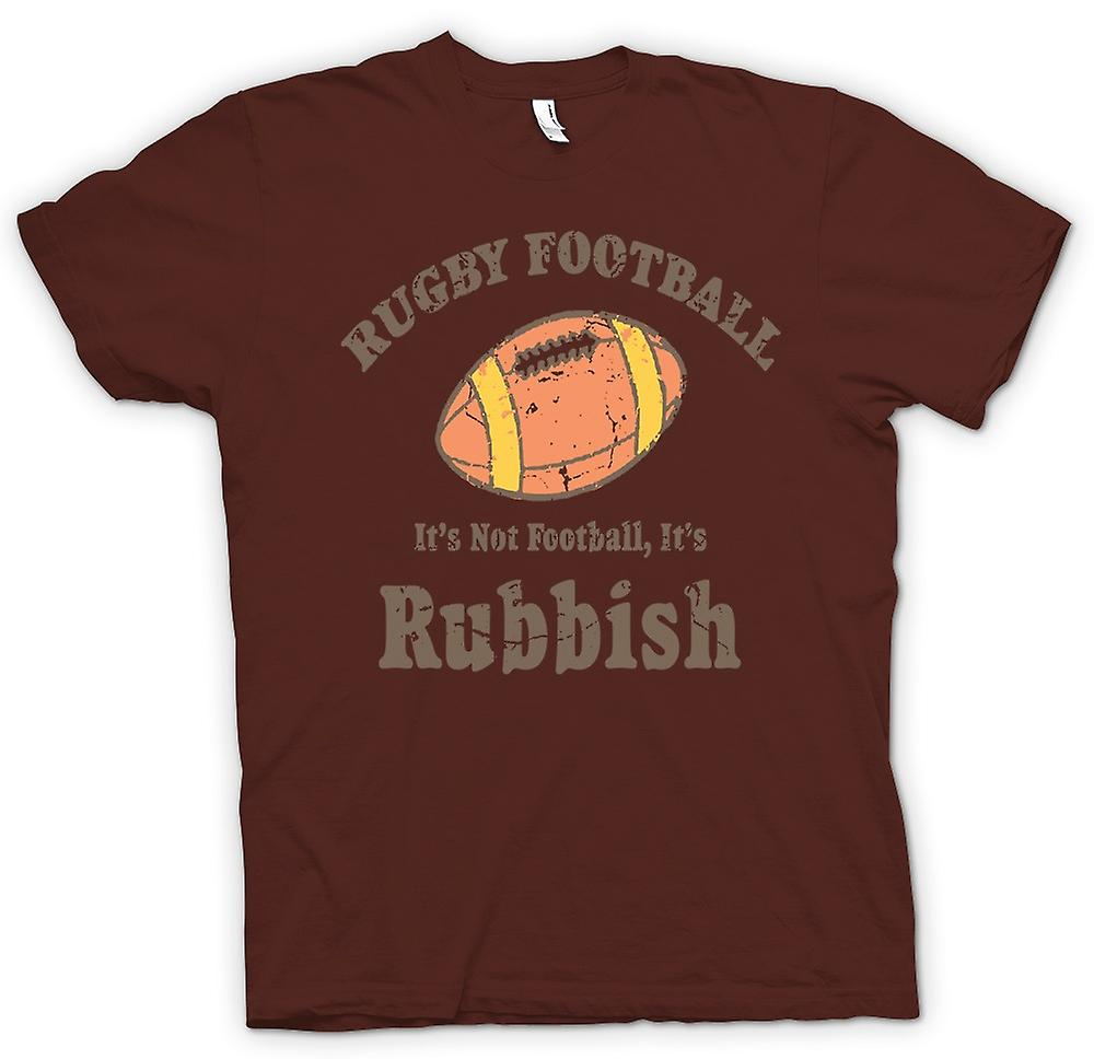 Mens T-shirt - Rugby Football Rubbish - Funny
