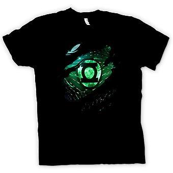 Womens T Shirt The Green Lantern - Superhero Ripped Design