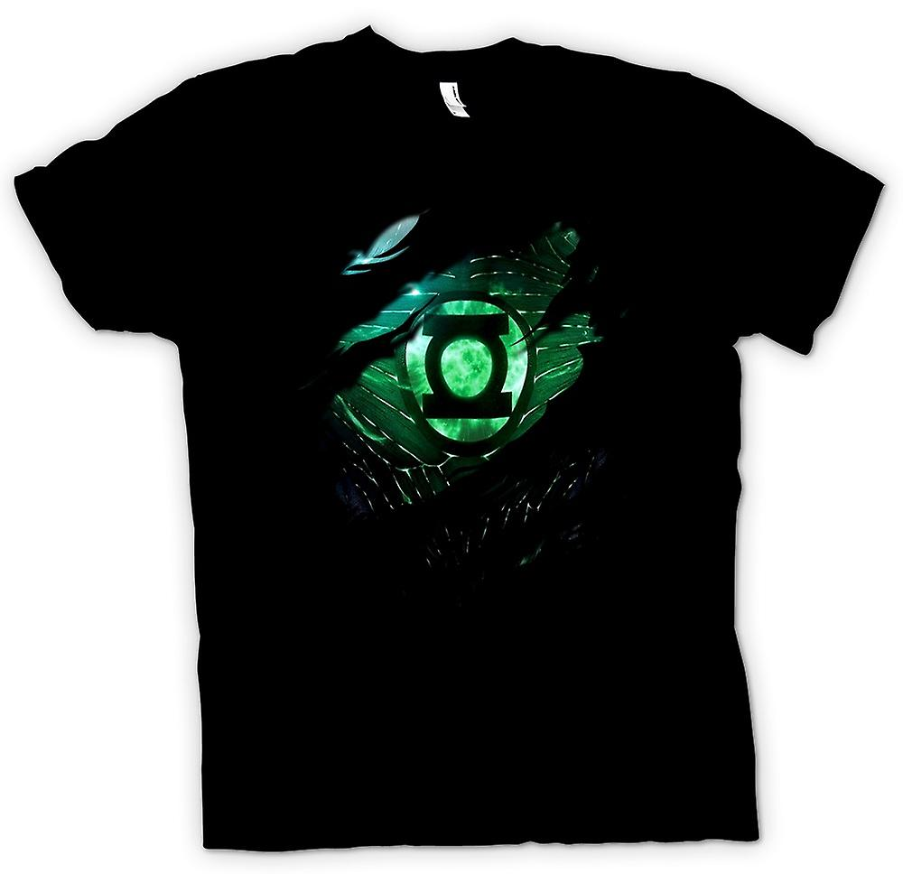 Kids T-shirt - The Green Lantern - Superhero Ripped Design
