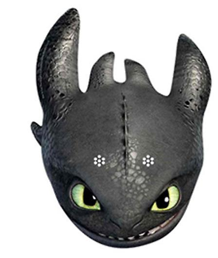 Toothless How To Train Your Dragon 2 Party Card Face Mask (single)