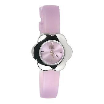 Carvel Blume lila Zifferblatt Girls Fashion Watch B511.15CA