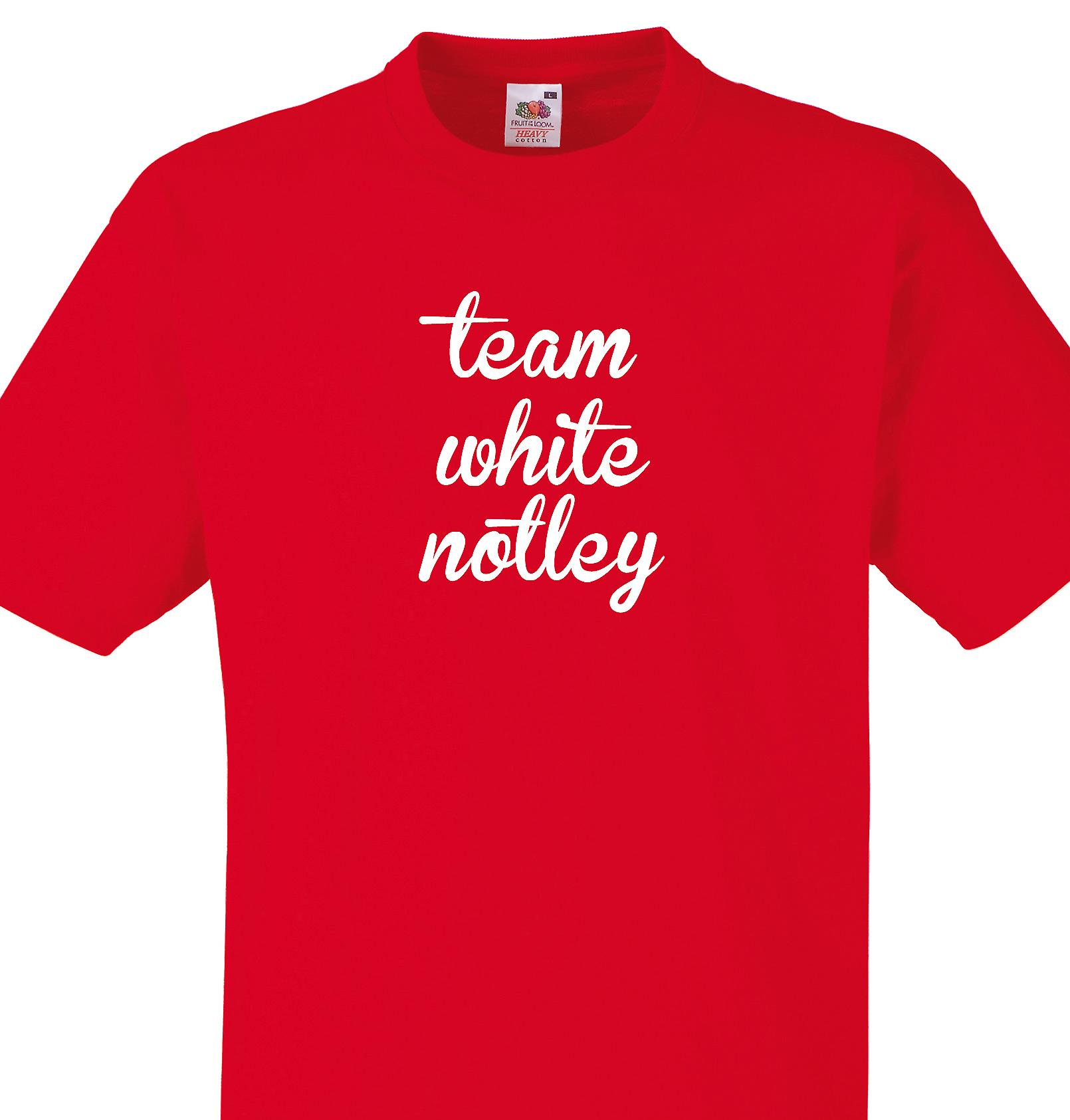 Team White notley Red T shirt