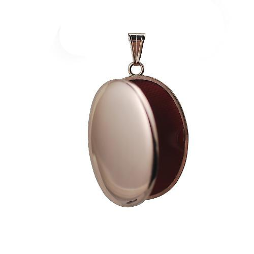 9ct Rose Gold 35x26mm plain oval Locket