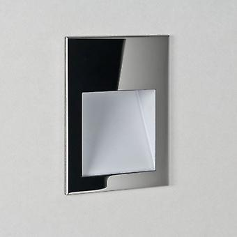 Borgo Small Square 3000K Polished Stainless Steel LED Recessed Wall Light - Astro Lighting 7485
